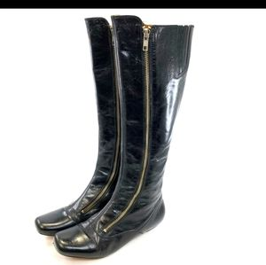 Frye 77975 Annie Double Zip Glazed Black boots